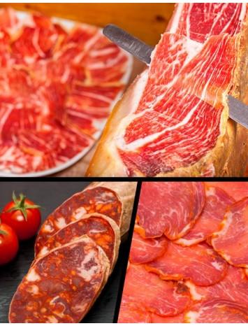 LOTE IBÉRICOS GOURMET  (Jamón cebo campo+1/2 Lomo+Chorizo)